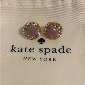 NEVER WORN Purple Pave Kate Spade Earrings